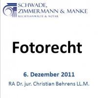 Fotorecht – Folien zum Vortrag am 6.12.2011