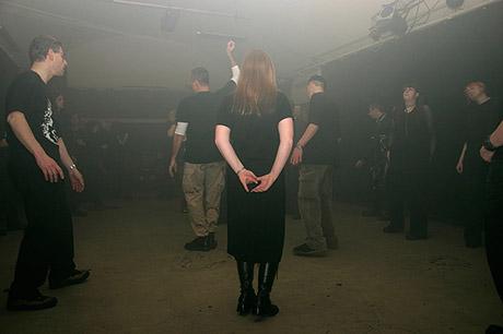 Schwarzlicht: Floor II. mit Blitz als Hauptlichtquelle