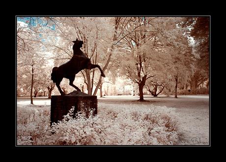Pferdeskulptur