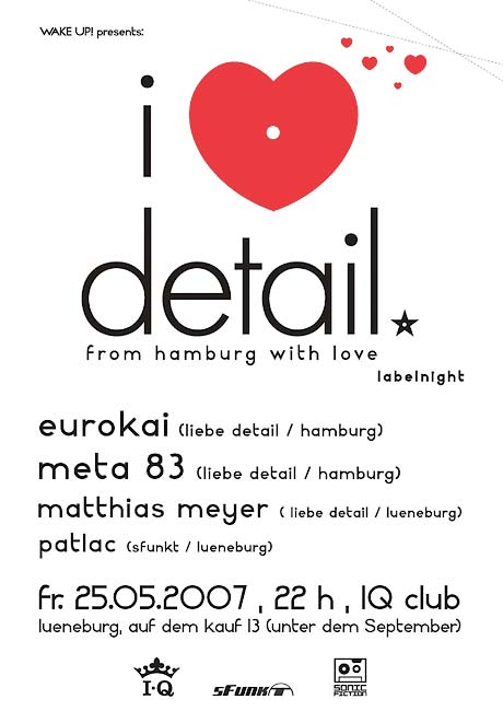 Plakat: WAKE UP! presents: liebe detail labelnight